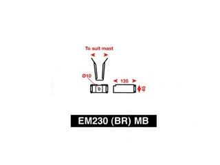Suporte de mastro para refletor de radar EM230