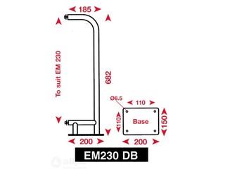 Suporte de superfície para refletor de radar EM230