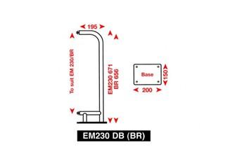 Suporte de superfície para refletor de radar EM230BR