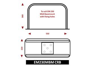 Suporte de montagem Combo para Radar e para EM230 Midi