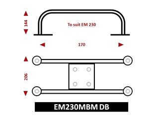 Suporte de superfície para refletor de radar EM230 Midi