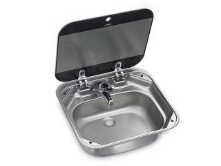 SNG 4237 – Square Sink with Glass Lid