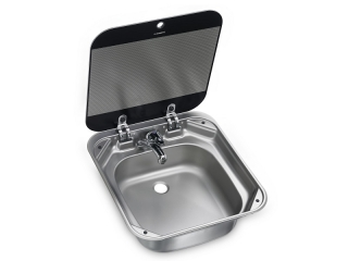 SNG 4244 – Square Sink with Glass Lid