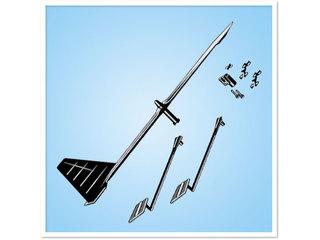 Kit de giroete e indicador de vento para modelo de antena YHK.