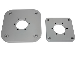 Base quadrada AQS50 para luzes de 3mn de montagem horizontal.