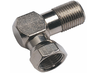 V9146 - F Female to F Male 90° Adaptor for F Connectors