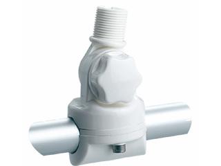 RA134 - Suporte rebatível em nylon reforçado para montagem em tubo com maçaneta de fixação