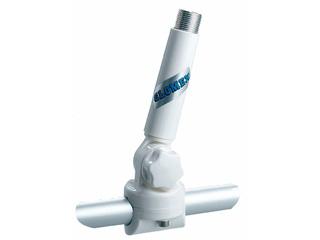 RA147 - Suporte com extensão, rebatível em nylon reforçado para para aplicação vertical ou ...