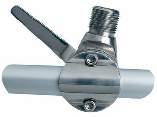 RA165 - Suporte Universal em aço inox electro polido p/antenas e extensões para montagem ...