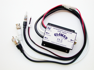Repartidor-Splitter de VHF para rádio AM/FM e recetor de AIS