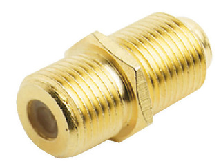 RA163 - Gold Plated F/F Female Connector for TV Cable.