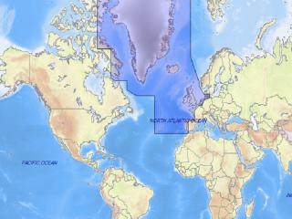 Carta C-MAP MAX MegaWide - EW-M009 COSTA EUROPEIA ATLÂNTICA