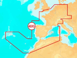 Carta Navionics+ 46XG - Europa Central e Ocidental