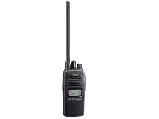 Rádio Portátil de VHF IC-F1000S com teclado simples e display