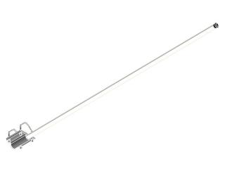 AV7 Antena Marítima de VHF com 1,30m em fibra de vidro com base de fixação a tubo