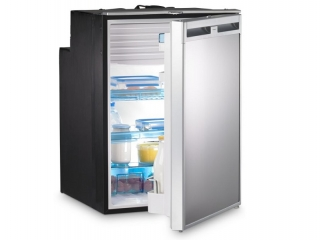 CoolMatic CRX 110 - 104 Liter Refrigerator with Compressor and Stainless Steel Effect Front