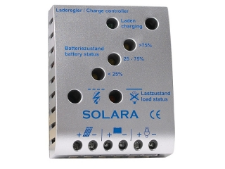 SR85TL - Controlador de Carga de 12/24V, 5A, até 90Wp, LVD, indicador LED