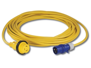 10MSPPXP - Kit cabo amarelo (10 metros) c/ficha fêmea 2 pólos + terra c/luz LED indicadora de ...