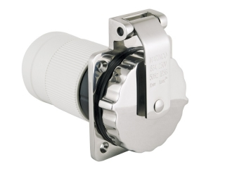 6401EL-BX - Inlet, 63A 230V 3 Wire, Stainless Steel