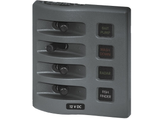 4304 - WeatherDeck® 12V DC Waterproof Fuse Panel - Gray 4 Positions