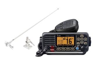 Pack Rádio IC-M330GE c/ Antena VHF Shakespeare 427-C de 1.5 metros