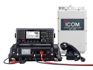 GM800 Pack - GMDSS MF/HF Marine Transceiver w/ Class A DSC and Automatic Antenna Tunner AT-141(#45)