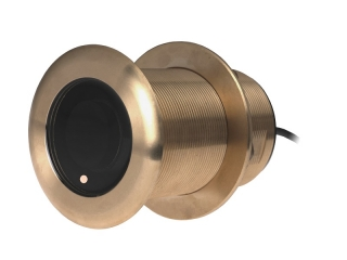 A80037 B75 H – 20° Element 600W Bronze Through-Hull Transducer