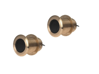 T70063 B75LH - Pair of Bronze 300W-600W Through Hull Transducers w/ 12° Element
