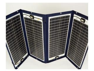 TX-42239 - Painel Solar de 152Wp e 24V, Desdobrável c/ Moldura Têxtil
