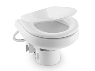 MasterFlush MF 7220 – 12V Low Profile Electric Fresh Water Macerator Toilet