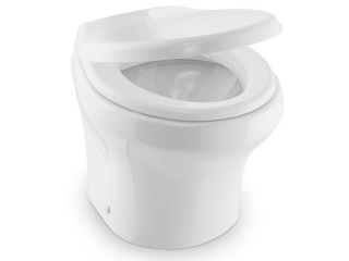 MasterFlush MF 8939 – 12V Electric Macerator Toilet, Low Profile w/ Bidet