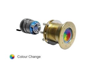 Mako M24 CC 12/24V - Luz LED Subaquática, Multicolor, 6.500 Lumens e Montagem Passa Casco