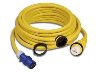 15M32AXP - Cordset, 32A 230V, 15M, With European Plug, Yellow