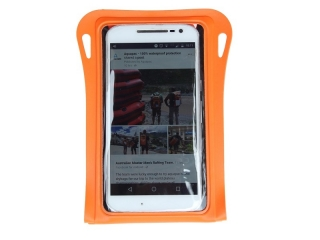 081 - TrailProof Phone Case - Waterproof case for Smartphones - Safety Orange