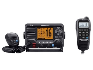 IC-M506GE + HM-195GB - Marine VHF Transceiver w/ COMMANDMIC HM-195GB, DSC, AIS Receiver and GPS ...
