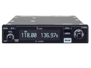 IC-A220 TSO – Transcetor Móvel de VHF de Banda Aérea de Instalação em Painel