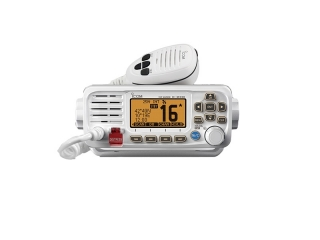 IC-M330GE - Mounted VHF Marine Radio w/ Class D DSC & GPS - White Version
