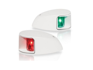 2NM NaviLED Deck Mount Port and Starboard Pair in white (clear lens)