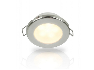 Warm White EuroLED 75 LED – 12V Warm White LED Down Lights w/ Stainless Steel Rim, Spring Clip ...