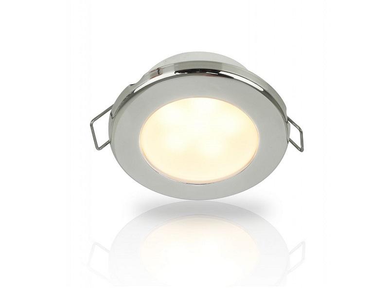 Warm White EuroLED 75 LED – 12V Warm White LED Down Lights w/ Stainless Steel Rim, Spring Clip mount