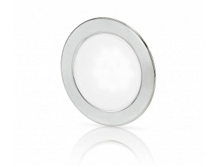 White EuroLED 95 Gen 2 LED – Stainless Steel Round Rim Down Lights with Spring Clips
