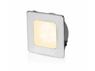 Warm White EuroLED 95 Gen 2 LED – Stainless Steel Square Rim Down Lights with Spring Clips