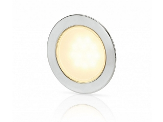 Warm White EuroLED 95 Gen 2 LED – Stainless Steel Round Rim Down Lights with Spring Clips