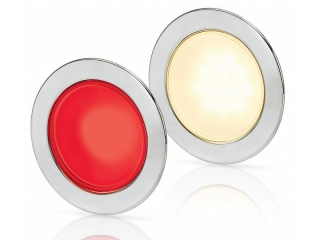 Warm White/Red EuroLED 95 Gen 2 LED – Stainless Steel Round Rim Down Lights with Spring Clips