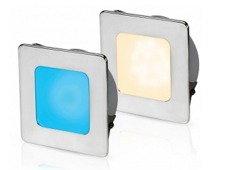 Warm White/Blue EuroLED 95 Gen 2 LED – Stainless Steel Square Rim Down Lights with Spring Clips
