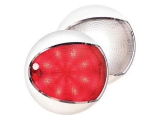 Red / White EuroLED 130 – White Rim Dual Color LED Touch Lamp