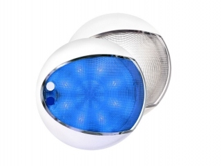 Blue / White EuroLED 130 – White Rim Dual Color LED Touch Lamp
