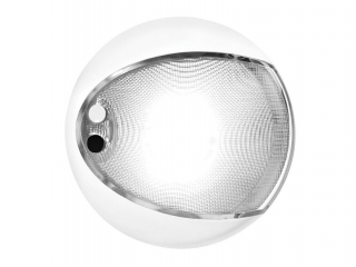 White EuroLED 130 – White Rim White LED Touch Lamp