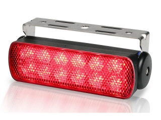 Sea Hawk – Spread Red LED Floodlights in Black Housing and Bracket Mount
