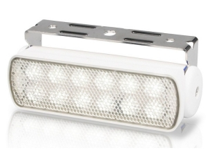 Sea Hawk – Spread White LED Floodlights in White Housing and Bracket Mount